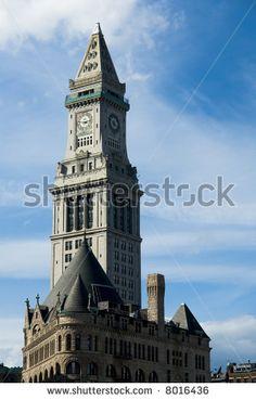 The Custom House tower of Boston - stock photo