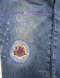Stitching and patching jeans ~L.Marcille