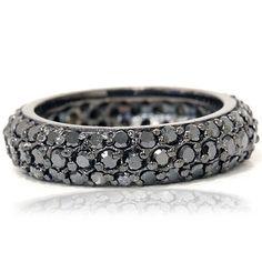 zwarte diamanten ring