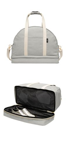 Weekender bag with a shoe compartment