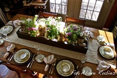 What a beautiful and inviting table! A table set with such attention makes everyone feel so honored.