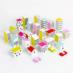 This DIY Paper Advent Calendar Kit Takes the Shape of a Vibrant City #advent #holiday trendhunter.com