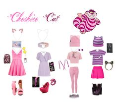 """""""Disney bound: Cheshire Cat from Alice in Wonderland"""" by the-shadowrider on Polyvore featuring Disney, River Island, Report, AX Paris, Hot Topic, Alice & You, Chinese Laundry, Cara, Retrò and Miss Selfridge"""