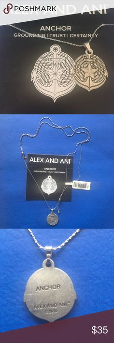 "⚓️ Alex and Ani Expandable Anchor Necklace ⚓️ Brand new with tag and meaning card!    Alex and Ani Anchor Necklace in Rafaelian Silver finish. Adjustable/Expandable fit.    Stands for ""Grounding, Trust, Certainty.""  Matching bracelet also available; check my other listings and bundle to save on shipping! Alex & Ani Jewelry Necklaces"