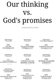Our thinking vs. God's promises
