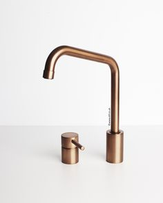 Visit www.olif.co.uk to see our range of versatile products like this Duetto Brushed Copper Kitchen Mixer Tap