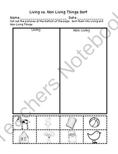 FREE Living vs. Non Living Sort and Scavenger Hunt from First Grade Buddies 2 on TeachersNotebook.com -  (2 pages)  - Living vs. Non Living Sort and Scavenger Hunt