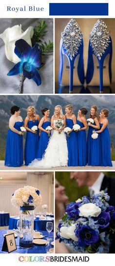 Blue Wedding Flowers Fall wedding colors royal blue - How to use the color of blue in your fall wedding? Here we've got 8 fabulous fall wedding colors blue ideas for your inspiration! Fall Wedding Colors, Autumn Wedding, Wedding Color Schemes, Summer Wedding, Dream Wedding, Wedding Blue, Wedding Ideas In Blue, Royal Blue Wedding Dresses, Sapphire Wedding Theme