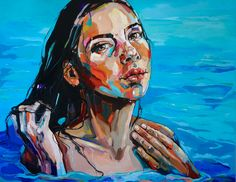 SWIMMER II oil on canvas 140x180cm, 2017