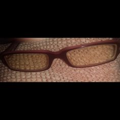 Donna Karan prescription eye glasses youth Burgundy and some pink on these glasses, I do not know the prescription but they are for far sight.  You can take to optometry doc and ask for them to switch the lens for your rx.  I paid. $300.00 Donna Karan Accessories