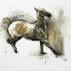 "Saatchi Online Artist: Benedicte Gele; Chalk, 2008, Drawing ""Jeu 3 (Sold)"""