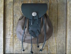 Leather Sporran Bag Medieval Renaissance Pouch by FolkOfTheWood