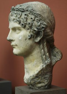 Agrippina the Younger - profile, sister of Emperor Caligula, mother of Emperor Nero, wife of Emperor Claudius, Roman bust (marble), 1st century AD, (Ny Carslberg Glyptotek, Copenhagen.)