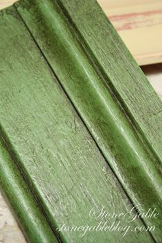 Rough Finish using Antibes Green. This finish was achieved by putting the paint in the refrigerator... can you believe it!