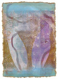 Monoprint made with the gelli plate, by Juna Biagioni. www.blog.junabiagioni.com/2014/08/11/many-more-monoprints