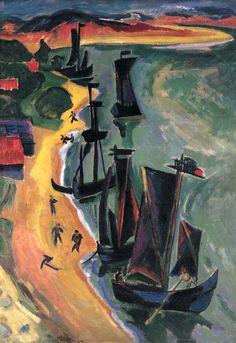 Züruckgekehrte Kähne, 1919 Max Pechstein