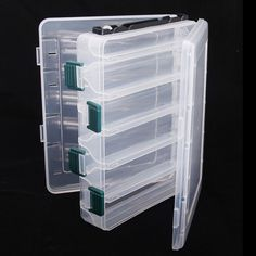 10 Compartments Double Sided High Strength Transparent Plastic Fishing Lure Box with Drain Hole Fishing Tackle Box Features: Double sided, 10 compartments to store your tackles. Easy-to-view case helps you find your fishing tackle at a glance. Fly Fishing Lures, Fishing Tackle Box, Bait And Tackle, Fishing Tools, Fishing Equipment, Tackle Shop, Tackle Bags, Lure Box, Fishing Storage