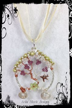 Hand Made Tree of Life Pendant Sterling Silver & Copper Wire Wrapped OOAK - T4 on Etsy, $40.00
