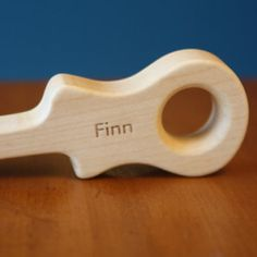 engraved wooden teether