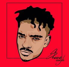 Shane Eagle art by #thabisodbn #coolestinthecity #Graphicdesign #GraphicArt #illustrator #illustration #photoshop #artwork #artist #sa #housemusic #gqomtrap #trap #trapmusic #kwaito #hiphop #h #durban #fash #cool #colorful #colours #type #typography #saartist #red #yellow #fashionupdates