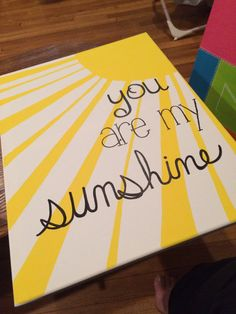 "16x20 ""You are my sunshine"" canvas painting. by SimplicityPaints on Etsy"