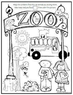 Coloring pages great for Nursery, Pre-K, or Kindergarten