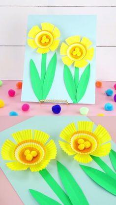 Easy Cupcake Liner Daffodil Craft for Kids