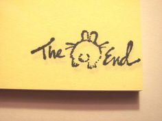 Bunny The End Post It Notes by UnicornPaper on Etsy, $2.25