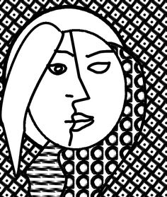 Preschoolers Free Coloring Pages Of Picasso Cubism