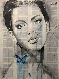 """ nowadays "" ink + gouache, drawing on archaic book pages by Hussein Tomeh Newspaper Art, Woman Art, Gouache, Female Art, Iphone Wallpaper, Pop Art, Butterflies, Artworks, Art Drawings"