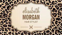 Hair Stylist Scissors Logo Elegant Cream and Brown Leopard Print Business Cards http://www.zazzle.com/hair_stylist_scissors_elegant_cream_leopard_print_double_sided_standard_business_cards_pack_of_100-240573134318621415?rf=238835258815790439&tc=GBCSalon1Pin