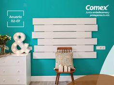 Llenos de vida estarán tus espacios con el color #Acuario #ComexPinturerías #Decoración