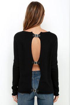 BB Dakota Jodie Black Sweater at Lulus.com!