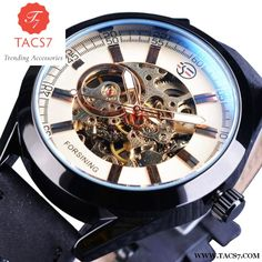Luxury Army Military Skeleton Mechanical Wristwatches
