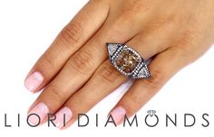 12.68 Carat Fancy Brown Cushion Cut Diamond Engagement Ring ~ Watch LIVE Video ~ #LioriDiamonds #DiamondEngagementRing