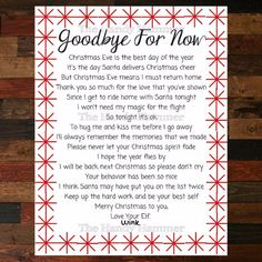 Personalized Elf Goodbye Letter Christmas Elf Farewell Letter
