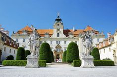 Valtice Chateau   Moravia, Czech Republic Valtice contains one of the most impressive Baroque residences of Central Europe. It was designed as the seat of the ruling princes of Liechtenstein by Johann Bernhard Fischer von Erlach in the early 18th century. Together with the neighbouring manor of Lednice, to which it is connected by a 7 kilometres (4.3 mi) long lime-tree avenue, Valtice forms the Lednice–Valtice Cultural Landscape, a UNESCO World Heritage Site.