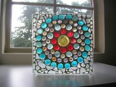 STAINED GLASS  Mosaic Art from Glass Block by totallylegalpot