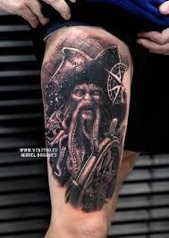 Afbeeldingsresultaat voor davy jones pirates of the caribbean tattoo Davy Jones, Black Tattoos, Body Art Tattoos, Sleeve Tattoos, Cool Tattoos, Movie Tattoos, Traditional Sailor Tattoos, Jack Sparrow Tattoos, Fingerprint Tattoos