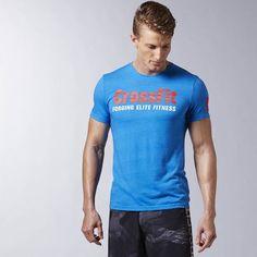 Reebok Men Training T-shirt CrossFit Forging Elite Fitness Tee Workout c42bca81e0ee7