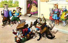 Eugen Hartung Artist Signed Mainzer School Dressed Cats Fight Vintage Postcard | eBay