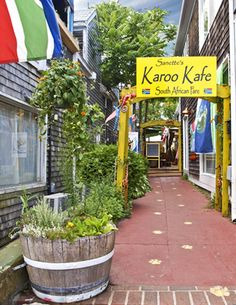 In the mood for some South African food while in Provincetown, Cape Cod? Head over to Karoo Kafe for some exotic eats! Wonderful Places, Great Places, Beautiful Places, South Afrika, The Longest Ride, South African Recipes, Out Of Africa, Mellow Yellow, Usa Travel
