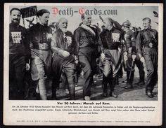 orig. WWII Press Photo - Italy - Mussolini - March on Rome 1942 - Date of publication: Oct. 22, 1942