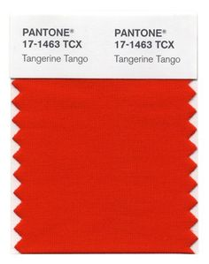 Tangerine Tango is named the color of the year in fashion for 2012.  Get ready for lots of clothes to be made in gorgeous hues of a red-orange.  Deliciously vibrant.