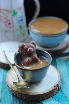 Ourson guimauve et son bain de caramel