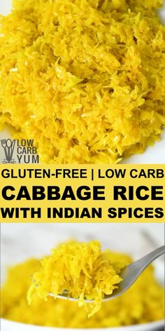 Cabbage Rice with Indian Spices for a Keto Side Dish For a low carb alternative to rice that doesn't involve cauliflower give cabbage rice a try. It's perfect as a side dish or a. Meal Recipes, Indian Food Recipes, Low Carb Recipes, Vegetarian Recipes, Cooking Recipes, Healthy Recipes, Cabbage Recipes Indian, Cooked Cabbage Recipes, Cabbage Ideas