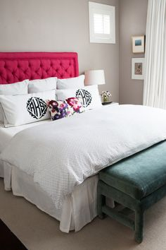 A bright headboard: http://www.stylemepretty.com/living/2015/03/08/15-amazing-beds-perfect-for-a-lazy-sunday/