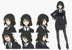 The anime character Chifuyu Orimura is a adult with to waist length black hair and red eyes. Character Sheet, Character Concept, Character Art, Chica Anime Manga, Anime Oc, Girls Characters, Female Characters, Anime Girl Brown Hair, Sailor Moon