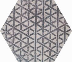 Stunning simple yet stylish geometric patterned porcelain wall and floor tile from the Alchimia Esagono Bianco & Nero collection.  #geometric #tiles
