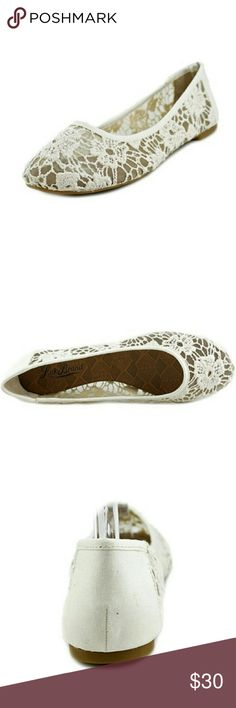 LUCKY BRAND: Elisabeta lace ballet flats Worn once inside.  Delicate and feminine ballet flats. Lucky Brand Shoes Flats & Loafers